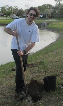 Derek Planting a Tree